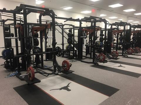 University of texas weight room installation power lift